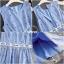 เดรสเกาหลี พร้อมส่ง เดรสผ้าโพลีตัวนอก ตาข่ายลายจุด thumbnail 6