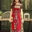 ชุดเดรสเกาหลี พร้อมส่ง Dress ผ้าฝ้ายผสมลินิน พิมพ์ลาย thumbnail 3