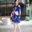 เดรสเกาหลี พร้อมส่ง เดรส หงส์คู่สีชมพู สีอ่อนสลับเข้ม thumbnail 6