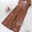 พร้อมส่ง จั๊มสูทปักลายดอกสีสดสวย thumbnail 14