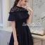 เดรสเกาหลี พร้อมส่ง Dress ชุดกระโปรงสีกรม thumbnail 3