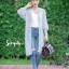 เสื้อเกาหลี พร้อมส่ง เสื้อคลุมตัวยาว แขนจั้มกระบอก thumbnail 9