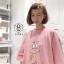เดรสเกาหลี พร้อมส่ง เดรสชมพูหน้าคุณนายบาบ้าปาป้า thumbnail 4