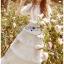 ชุดเดรสลูกไม้ พร้อมส่ง เดรสยาวผ้าลูกไม้ สีขาว ระบายเลเยอร์ thumbnail 7