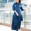 ชุดเดรสเกาหลี พร้อมส่ง Maxi Dress ยีนส์ระบาย thumbnail 4