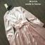 เดรสเกาหลี พร้อมส่ง เดรสยาว คอวี สีชมพู พริ้วๆ thumbnail 4