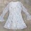 พร้อมส่ง Mini dress ลูกไม้ขาวดำ thumbnail 7