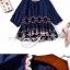 เสื้อเกาหลีคอกลม แขน 3 ส่วน พร้อมส่ง thumbnail 7