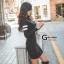 เดรสเกาหลี พร้อมส่ง มินิเดรส ซิปหน้าแนวสปอร์ตเกิร์ล thumbnail 8
