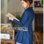 ชุดเดรสเกาหลี พร้อมส่ง เชิ้ตเดรส ผ้าเดนิมสีน้ำเงิน thumbnail 10