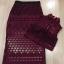 พร้อมส่ง เสื้อผ้าเกาหลี Luxury Red Wine Lace Set thumbnail 7