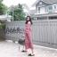 พร้อมส่ง Dress korea เปิดไหล่ทรงA ผ้าลายสก็อต thumbnail 1