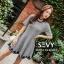 พร้อมส่ง Mini dress คอกลม แขนสั้น thumbnail 5