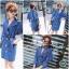เดรสเกาหลี พร้อมส่ง Dress โค้ทผ้ายีนส์ฟอก คอปก thumbnail 2