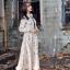 ชุดเดรสเกาหลี พร้อมส่ง Dress ยาว สีครีม thumbnail 2