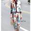 เสื้อผ้าเกาหลี พร้อมส่ง เสื้อกับกางเกงพิมพ์ลายดอกไม้ thumbnail 2