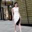 ชุดเดรสเกาหลี พร้อมส่ง Dress แขนกุด อกต่อผ้าซีทรู thumbnail 1