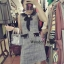เดรสเกาหลี พร้อมส่ง เดรสผ้าทวิต คอบัวสีดำ thumbnail 6