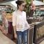 พร้อมส่ง เสื้อสไตล์เกาหลี งานปักแน่น thumbnail 5
