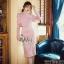 เดรสเกาหลี พร้อมส่ง เดรสผ้าลูกไม้ สีชมพูหวานบุซับในอย่างดี thumbnail 1