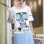 เดรสเกาหลี พร้อมส่ง เดรสยีนส์ ลายหน้าผู้หญิง thumbnail 10