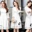 พร้อมส่ง mini dress แขนยาวสีขาว thumbnail 7