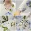 พร้อมส่ง ชุดเดรสผ้าซาตินคอวี ลายดอกไม้ thumbnail 2