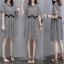 ชุดเดรสเกาหลี พร้อมส่ง Dress เดรสลายสก๊อต แต่งผ้าลูกไม้ thumbnail 5