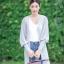 เสื้อเกาหลี พร้อมส่ง เสื้อคลุมตัวยาว แขนจั้มกระบอก thumbnail 8