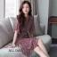 เดรสเกาหลี พร้อมส่ง เดรสผ้าชีฟอง เนื้อดี ลายดอกไม้ thumbnail 13