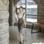 เสื้อผ้าเกาหลี พร้อมส่ง เซ็ตเสื้อ+กระโปรงเอี้ยม thumbnail 6