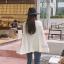 เสื้อเกาหลี ไหมพรมทรงค้างคาว พร้อมส่ง thumbnail 4