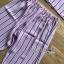 เสื้อผ้าเกาหลี พร้อมส่ง ชุดนอน เชิ้ต และกางเกงลายทาง thumbnail 15