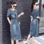 ชุดเดรสเกาหลี พร้อมส่ง เดรสผ้ายีนส์ สีฟอก thumbnail 3