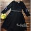 เดรสเกาหลี คอวี พร้อมส่ง เดรสสีดำแขนปักผีเสื้อ thumbnail 5