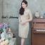 ชุดเดรสเกาหลี พร้อมส่ง เดรสผ้าไหมบนลูกไม้ดิ้นทองคอวี thumbnail 13