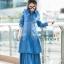 ชุดเดรสเกาหลี พร้อมส่ง Maxi Dress ยีนส์ระบาย thumbnail 7