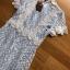 พร้อมส่ง มินิเดรสผ้าลูกไม้ทับเครปสีฟ้าอ่อน thumbnail 8