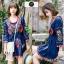 เดรสเกาหลี พร้อมส่ง Mini dress งานปักสไตล์โบฮีเมียน thumbnail 1