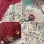เดรสเกาหลี พร้อมส่ง เดรสยาว ซีทรูปักลายดอกไม้สวย thumbnail 11