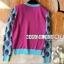 เสื้อเกาหลี พร้อมส่ง เสื้อลายเสือโทนสีฟ้าชมพู thumbnail 5