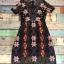ชุดเดรสเกาหลี พร้อมส่ง Dress ผ้าแก้วปักลูกไม้ลายดอก thumbnail 19