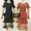 เดรสเกาหลี พร้อมส่ง Mini dress ระบายชีทู 3 ชั้น thumbnail 13