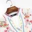 เดรสเกาหลี พร้อมส่ง Mini Dress คอกลม แขน 5 ส่วน thumbnail 8