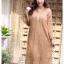 ชุดเดรสเกาหลี พร้อมส่ง Dress ลูกไม้ ลายทางฉลุ thumbnail 3