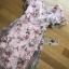 พร้อมส่ง เดรสผ้าทูลเลปักดอกไม้กุหลาบสีชมพู thumbnail 10