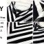 พร้อมส่ง Maxi Dress ลายริ้วแนวเฉียงขาวสลับดำ thumbnail 9