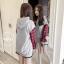 เสื้อเกาหลี พร้อมส่ง เสื้อตัวยาว ช่วงแขนลายสก๊อต thumbnail 8