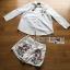 เสือผ้าเกาหลี พร้อมส่ง เสื้อเชิ้ตสีขาวและกางเกงปักลาย thumbnail 12