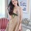 เดรสเกาหลี พร้อมส่ง เดรสผ้าทวีส ผ้าทอลายเนื้อชาแนล thumbnail 6